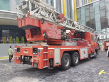 5 ottobre 2016 Subang Jaya, Malesia L'esercizio dell'esercitazione antincendio all'hotel Subang USJ della sommità è stato fatto q Immagini Stock