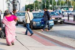 2 ottobre 2014: Washington, DC - la gente che attraversa through l'unione Fotografie Stock