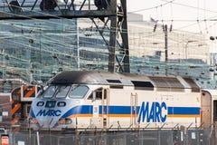 2 ottobre 2014: Washington, DC - treni e cavi sopraelevati a U Fotografie Stock Libere da Diritti