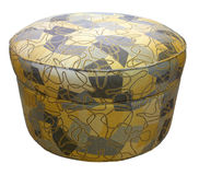 Ottoman. Contemporary Style Ottoman with Modern Fabric Design stock images