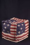 Ottoman with American flag Stock Image