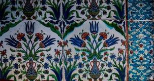Ottoman ancient Handmade Turkish Tiles royalty free stock photography