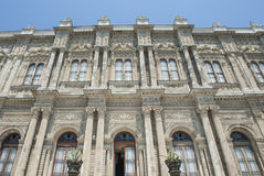 Ottoman architecture of Dolmabahce Palace Istanbul Stock Image
