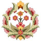 Ottoman art flowers fourteen. Versions of Ottoman decorative arts, abstract flowers vector illustration