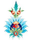 Ottoman art flowers nine. Versions of Ottoman decorative arts, abstract flowers Stock Photos