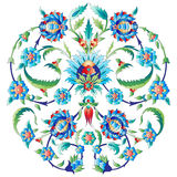 Ottoman art flowers seven. Versions of Ottoman decorative arts, abstract flowers stock illustration