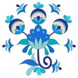 Ottoman art flowers twenty seven. Versions of Ottoman decorative arts, abstract flowers Stock Photo