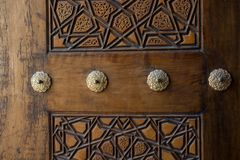 Ottoman  art with geometric patterns on wood. Ottoman Turkish  art with geometric patterns on wood Stock Photos