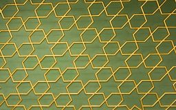 Ottoman  art with geometric patterns on wood. Ottoman Turkish  art with geometric patterns on wood Stock Images