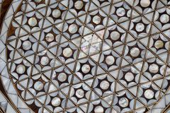 Ottoman art with geometric patterns on wood. Ottoman Turkish art with geometric patterns on wood royalty free stock image