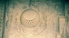 Ottoman art with geometric patterns on wood. Ottoman Turkish art with geometric patterns on wood stock photography