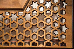 Ottoman art in on wood. Ottoman art in geometric patterns on wood Royalty Free Stock Images