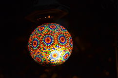 Ottoman authentic lamp. Used in the Ottoman era the most popular type of lamp Stock Images