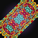 Ottoman carpet. Diagonal pattern in mosaic ethnic Royalty Free Stock Photography