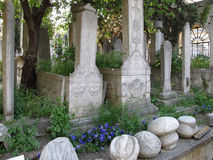 Ottoman Cemetery In Eyup, Istanbul. Royalty Free Stock Photography