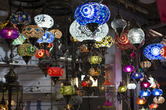 Ottoman chandeliers. Ottoman motif decorations.Every color of the avizen is a beautiful separate Stock Photo