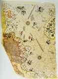 Ottoman Chart Of The New World Royalty Free Stock Photo