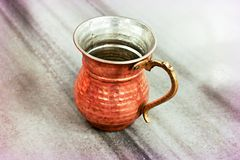 Ottoman copper water cups stock images