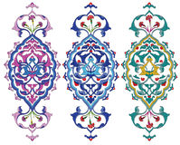 Ottoman design. Traditional antique ottoman turkish tile illustration design Royalty Free Stock Images