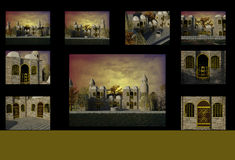 The Ottoman Empire. 3D The Ottoman Empire Architecture stock illustration