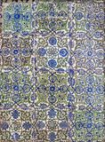 Ottoman era style glazed ceramic tiles decorated with floral ornamentations. Cairo, Egypt Royalty Free Stock Photo