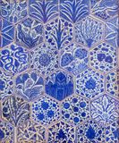 Ottoman era style glazed ceramic tiles decorated with floral ornamentations. Cairo, Egypt Royalty Free Stock Images