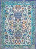 Ottoman era style glazed ceramic tiles from Iznik Turkey decor. Ated with floral ornamentations, Cairo, Egypt Stock Images