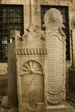 Ottoman gravestones, Eyup, Turkey Royalty Free Stock Images