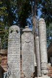 Ottoman gravestones, Istanbul, Turkey Stock Images