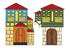 Ottoman Houses Stock Photo