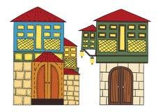Ottoman Houses. Vector illustration of ottoman houses Stock Photo