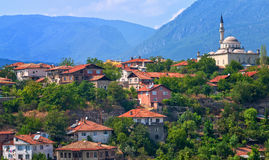 Ottoman houses and white mosque, Safranbolu, Turkey Stock Image