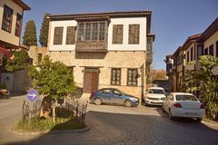 Ottoman mansion in Kaleici district of Antalya, Turkey. Royalty Free Stock Images