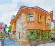The Ottoman mansion in Kaleici. The old stone Ottoman mansion, hidden in maze of Kaleici district streets, Antalya, Turkey Royalty Free Stock Photos