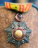 Ottoman medal with star and crescent royalty free stock photography