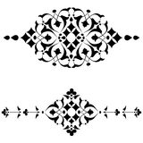 Ottoman motifs black design series of fifty four. Series of patterns designed by taking advantage of the former Ottoman Stock Image