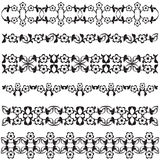 Ottoman motifs black design series of fifty seven. Series of patterns designed by taking advantage of the former Ottoman royalty free illustration