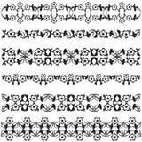 Ottoman motifs black design series of fifty seven Stock Image