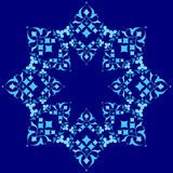 Ottoman motifs blue design series of fifty five. Series of patterns designed by taking advantage of the former Ottoman Royalty Free Stock Photo