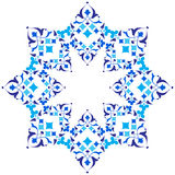 Ottoman motifs blue design series of fifty five version Royalty Free Stock Images