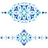 Ottoman motifs blue design series of fifty four.ai. Series of patterns designed by taking advantage of the former Ottoman stock illustration