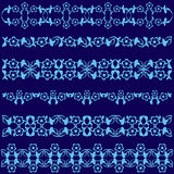 Ottoman motifs blue design series of fifty seven. Series of patterns designed by taking advantage of the former Ottoman royalty free illustration