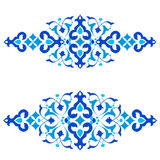 Ottoman motifs blue design series of fifty three. Series of patterns designed by taking advantage of the former Ottoman Stock Photo
