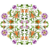 Ottoman motifs design series eighty eight. Old motifs created with an artistic background Stock Image