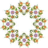 Ottoman motifs design series eighty five. Old motifs created with an artistic background Royalty Free Stock Image