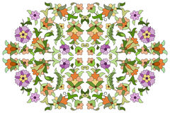 Ottoman motifs design series eighty nine. Old motifs created with an artistic background Royalty Free Stock Photography