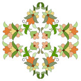 Ottoman motifs design series eighty seven. Versions of Ottoman decorative arts, abstract flowers Royalty Free Stock Photography