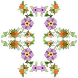 Ottoman motifs design series eighty two. Versions of Ottoman decorative arts, abstract flowers Royalty Free Stock Image