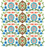 Ottoman motifs design series fifty eight. Series of patterns designed by taking advantage of the former Ottoman vector illustration