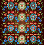 Ottoman motifs design series fifty eight version. Series of patterns designed by taking advantage of the former Ottoman vector illustration